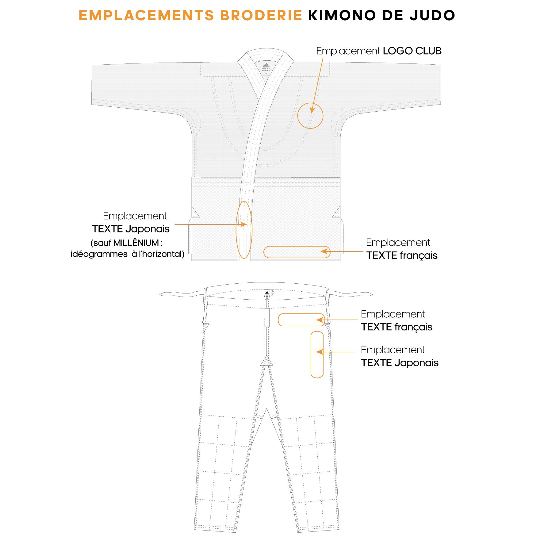 Broderie kimono de judo