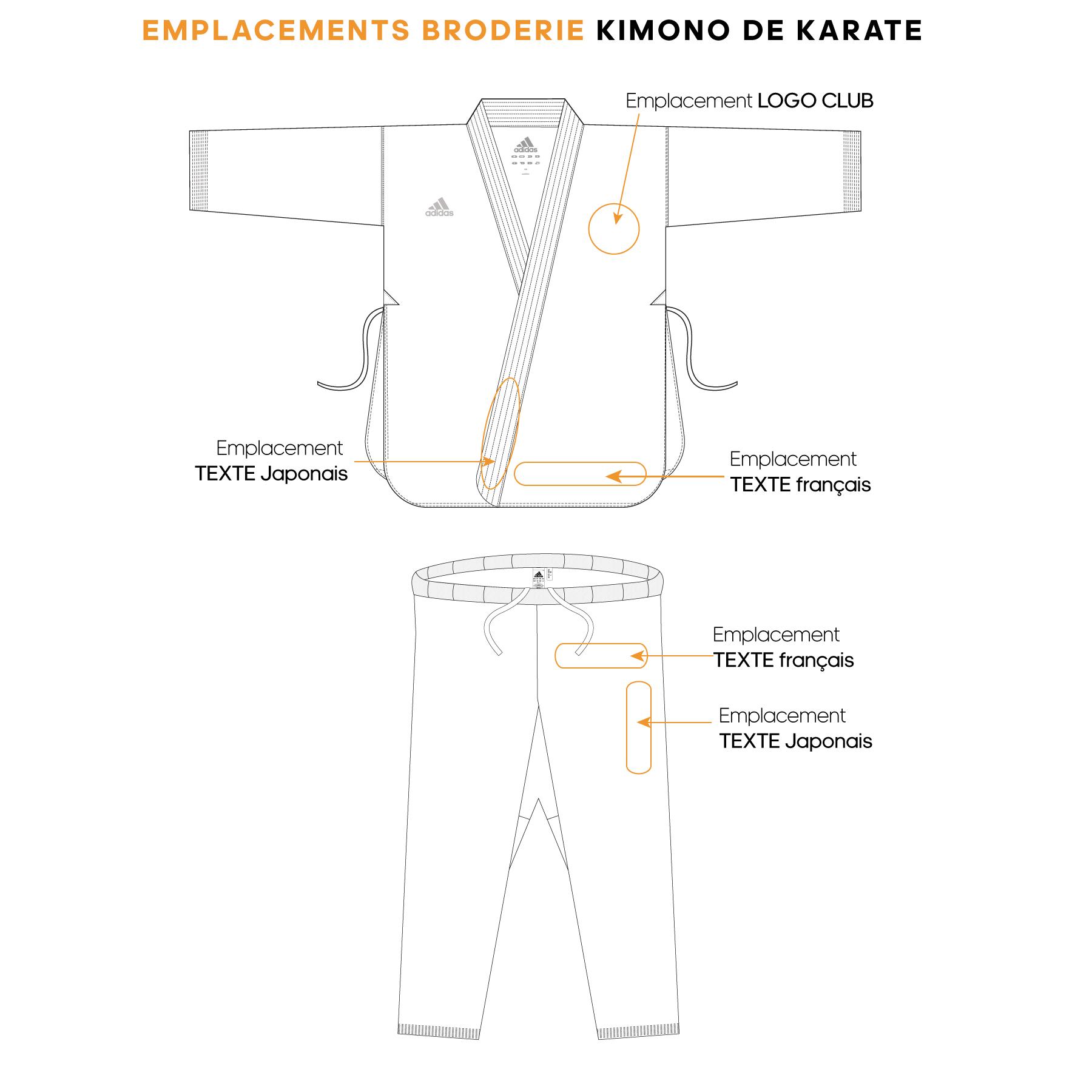 broderie kimono de karaté