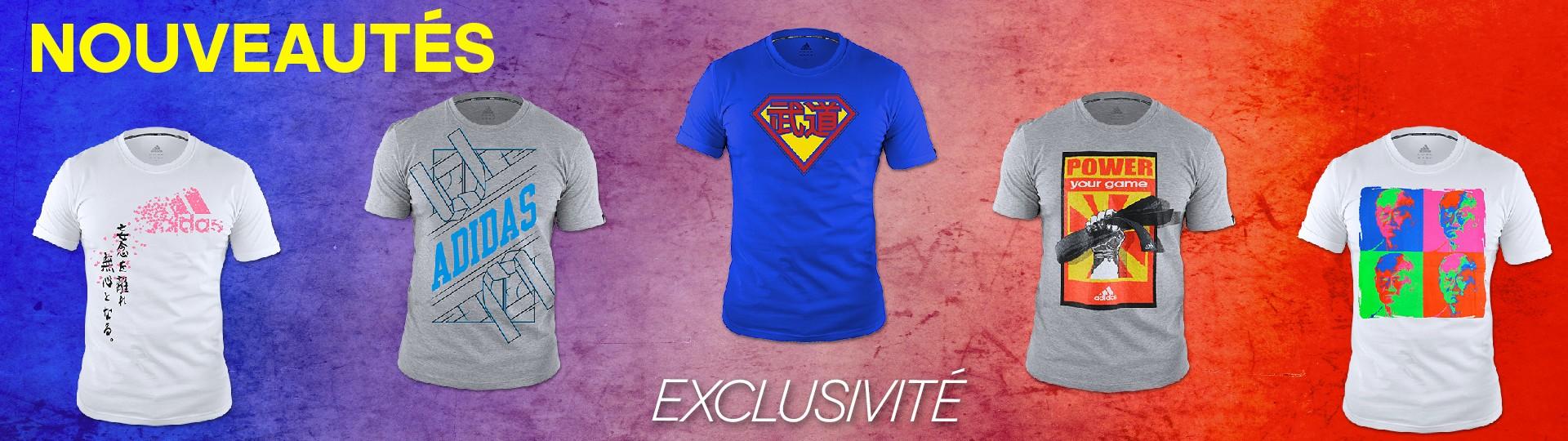Nouveaux Tee Shirts adidas arts martiaux