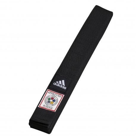 Ceinture de judo IJF noire  adidas