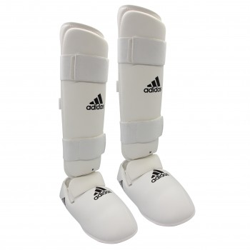 Protège tibia et pieds adidas blanc